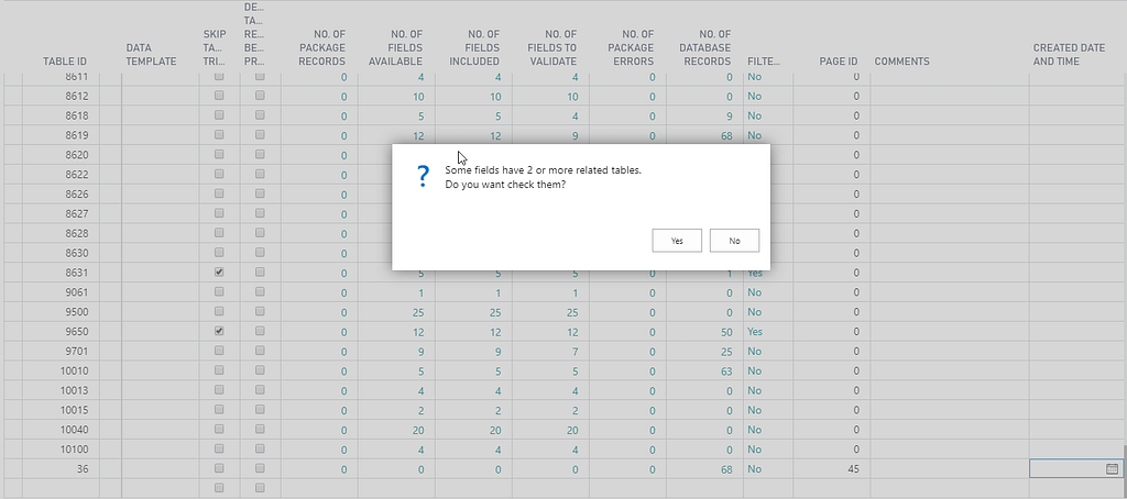 D365 Configuration Table Error
