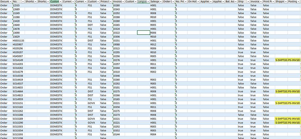 D365 Configuration Excel