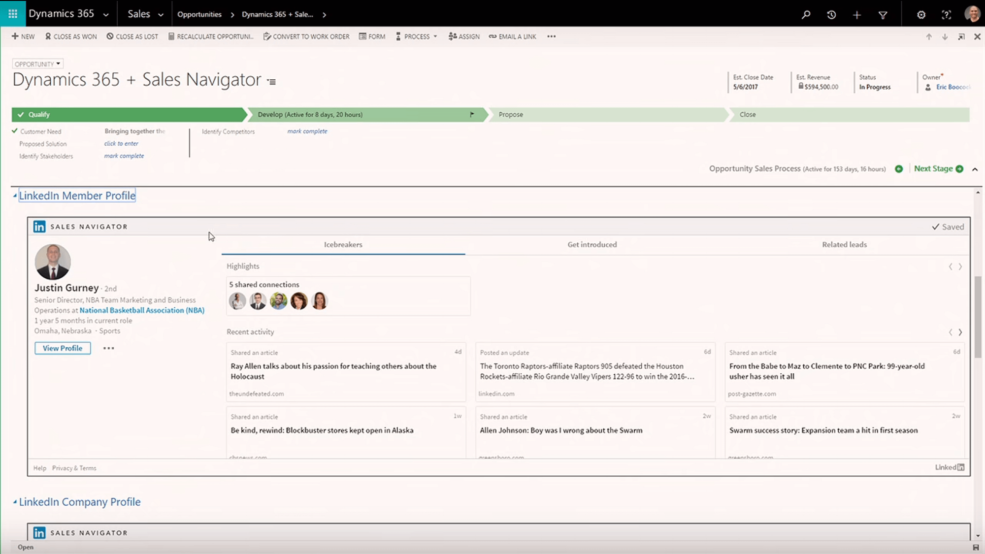 The Dynamics 365 July 2017 9.0 Update - Dynamics 365 and Sales Navigator