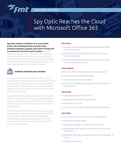 Case-Study: Spy Optics Reaches the Cloud with Microsoft Office 365 Page 1