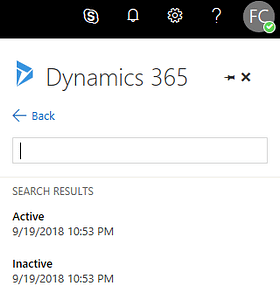 Dynamics 365 Search Results