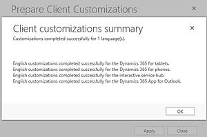 Client customizations summery dynamics 365