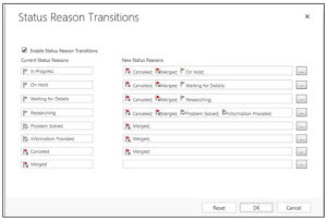 Microsoft Dynamics CRM Define Status Reasons