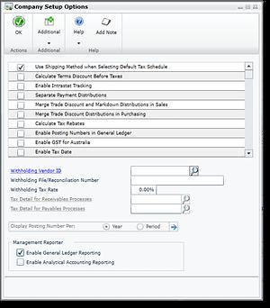Dynamics GP 2015 - Management Reporter Data Integration