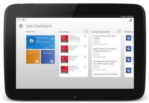 Microsoft Dynamics CRM Tablet