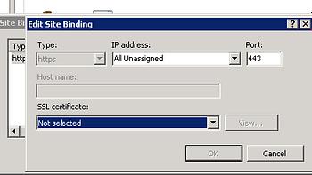 Website Binding Configuration