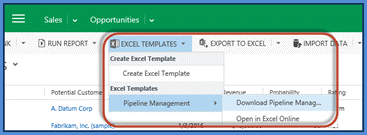 Excel Templates Export from the App