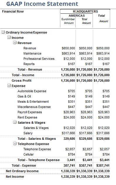 NetSuite GAAP Income Statement 3