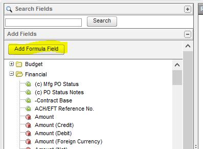 NetSuite Search Fields