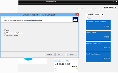 Dynamics GP 2015 - Support for MR Content in Business Analyzer