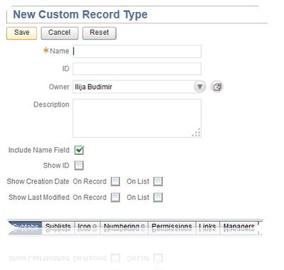 Custom Records in NetSuite