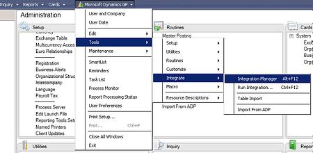Integration Manager Dynamics GP