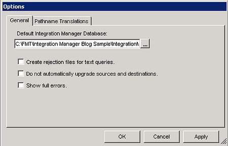 Default Database Dynamics GP