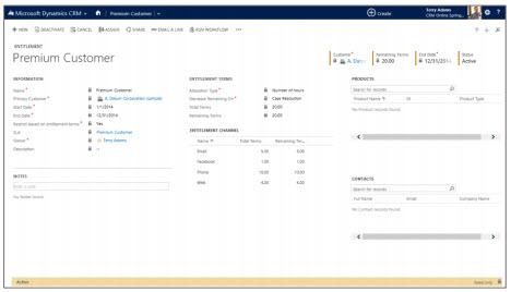 Microsoft Dynamics CRM Entitlement