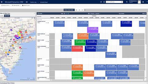 Dynamics Field Service Calendar View