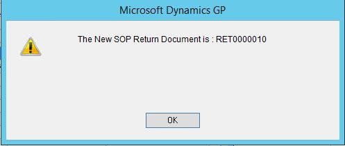 Create Return Document
