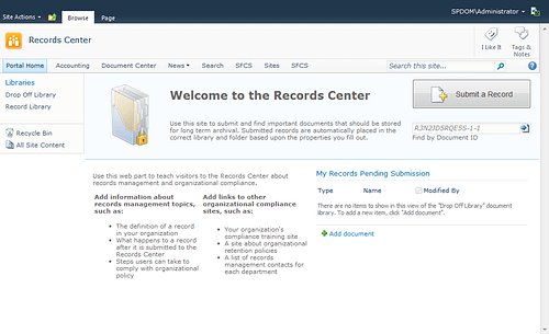 Microsoft SharePoint Records Center