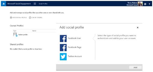 Dynamics CRM 2015 Social Profiles