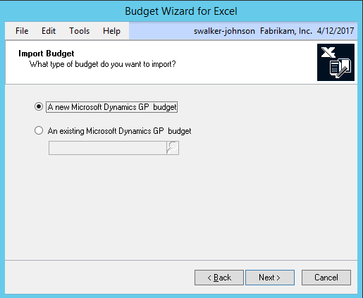 Budget Wizard for Excel