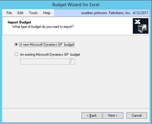 Wizard Budget