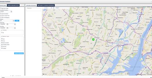 Dynamics Field Service Map View