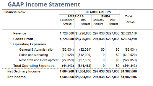 NetSuite GAAP Income Statement 2