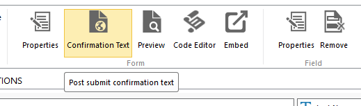Dynamics CRM - ClickDimensions Confirmation Text