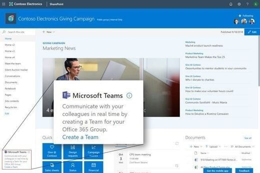 Create a Team for your O365 group image