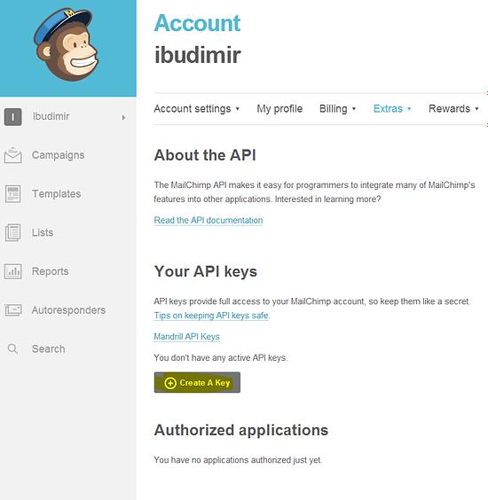 Get MailChimp API