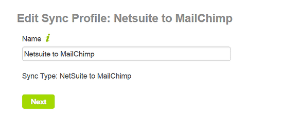 NetSuite to MailChimp Integration Cazoomi