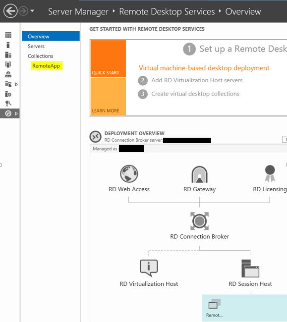 Remote Desktop Services Choosing Collection