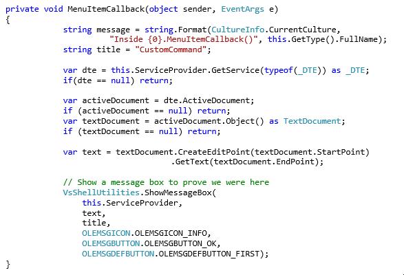 Visual Studio CustomCommand5