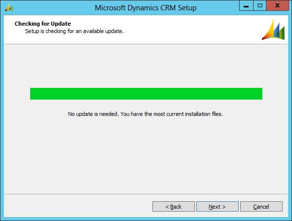 Microsoft Dynamics CRM Setup