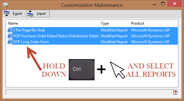Dynamics GP Customized Reports