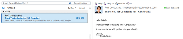 Dynamics CRM - ClickDimensions Confirmation Email