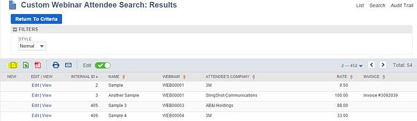 Custom Webinar Record NetSuite