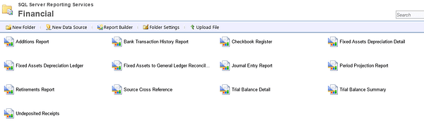 Dynamics GP Reporting SSRS