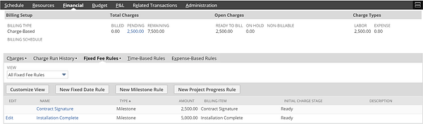 NetSuite Review Charges