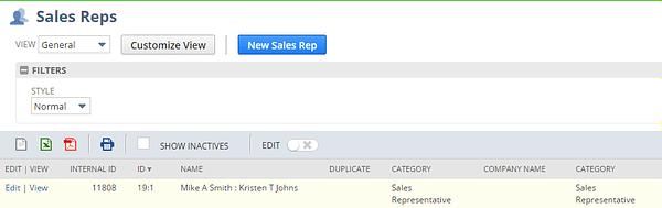 NetSuite Sales Rep