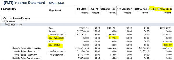 NetSuite Income Statement Summary