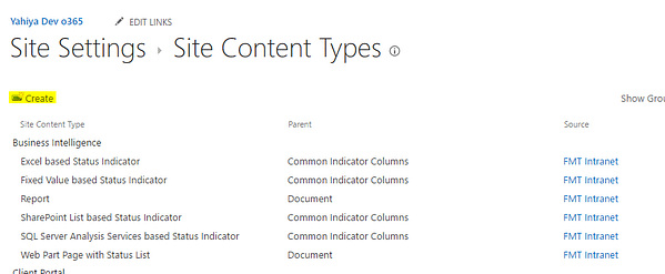 SharePoint Site Content Create