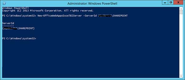 Administrator Windows Power Shell Configure BI server
