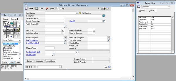 Modifying Third-Party Forms in Microsoft Dynamics GP 3