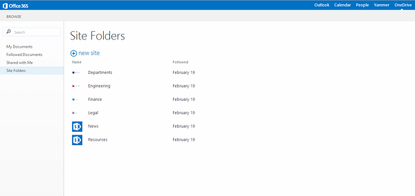 Site Folders in SharePoint 2016