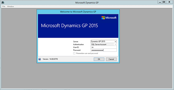 Log in to Dynamics GP