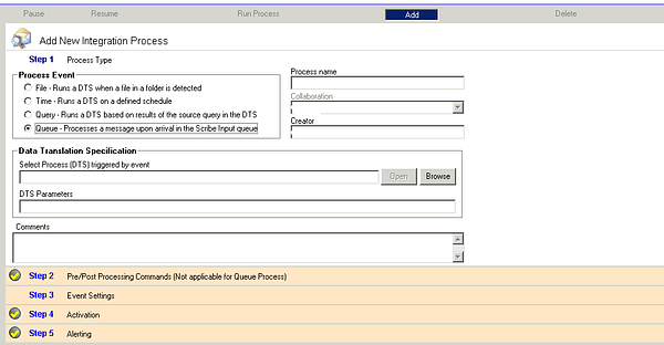 Integration Setup Using Queue