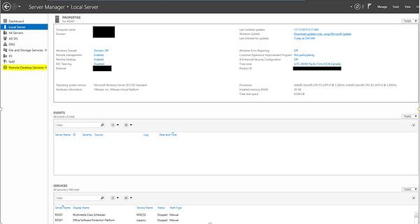 Remote Desktop Services Server Manager