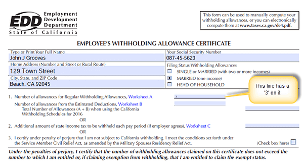 Microsoft Dynamics GP Employee Witholding Allowance Certificate