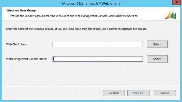 Dynamics GP Web Client Windows User Group