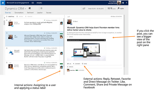 Microsoft Social Engagement Posts
